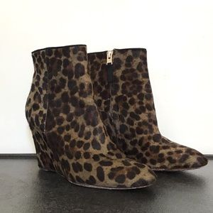 BRIAN ATWOOD BELLARIA CALF HAIR WEDGE LEOPARD BOOT